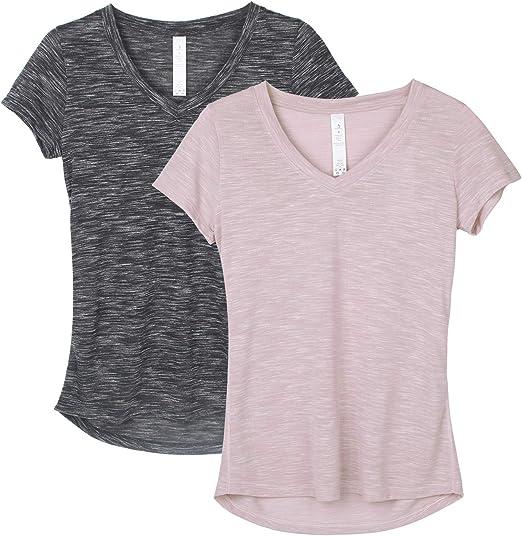 Amazon.com: icyzone - Camisas de entrenamiento para mujer ...