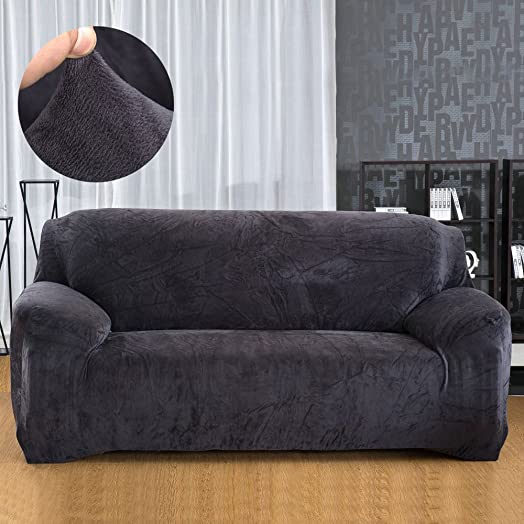 Sofa Covers 123 Seater Sofa Protector Velvet Easy Fit Elastic