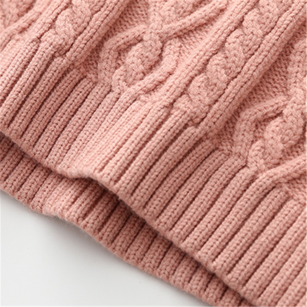 SPRMAG Christmas Kids Girls Solid long Sleeve Turtleneck Sweater Pullover Made in China