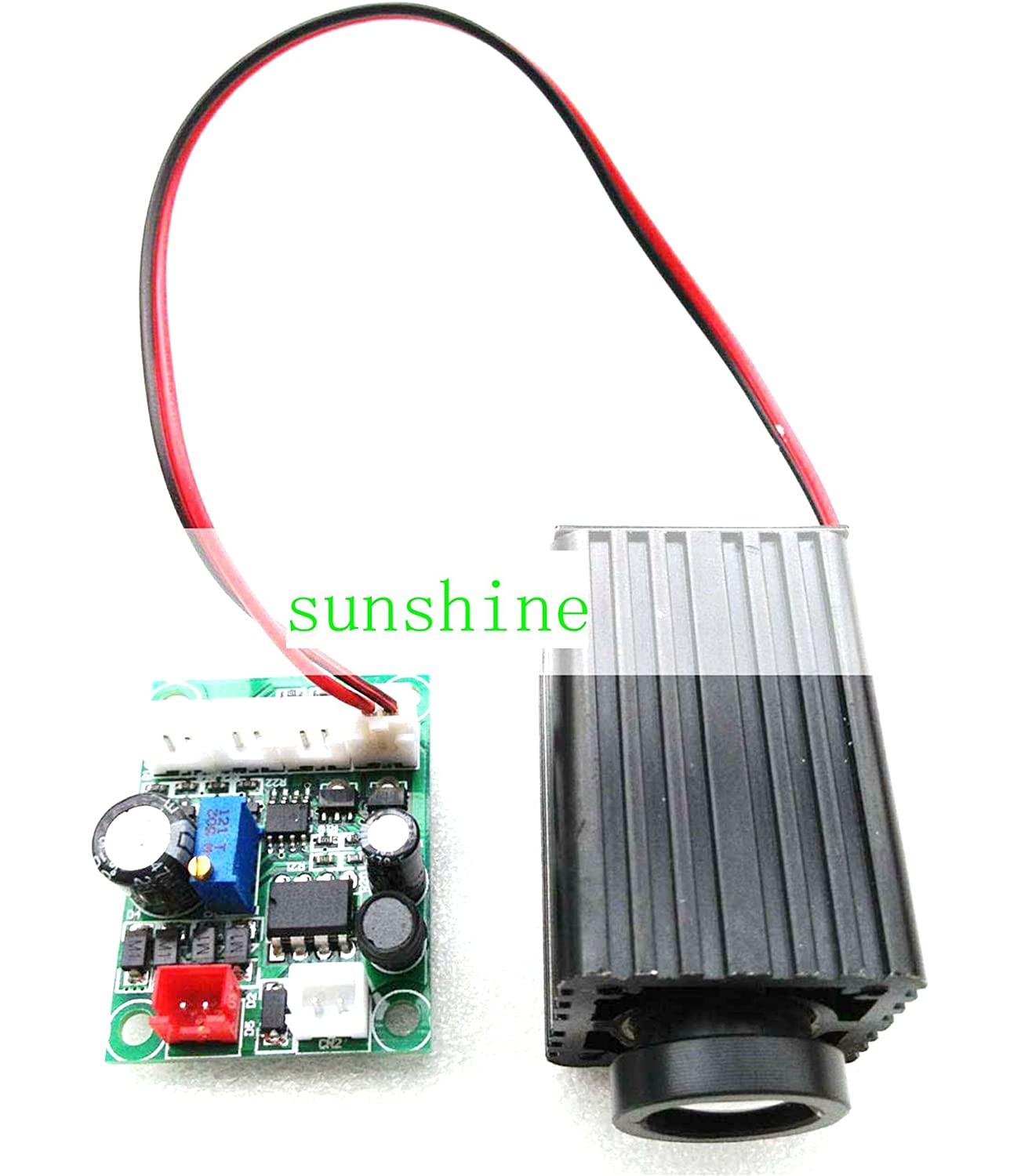 Industry Laser Module 200mw 660nm Red Fat Beam Laser Dot Module 12V TTL & Adapter sunshine-electronics 660MD-200-FAT-12VTTL+ADPT