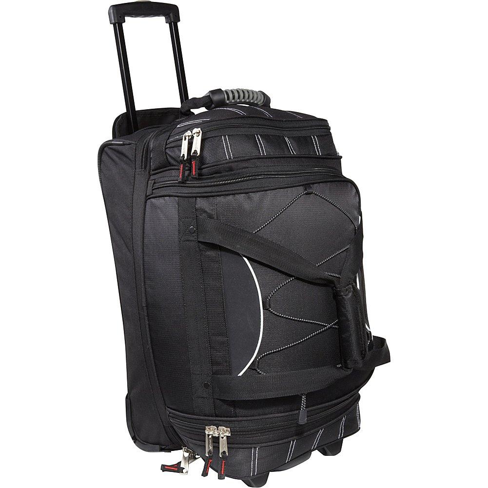 Athalon Luggage Carryon Equipment Wheeled Duffel Bag, Black, One Size