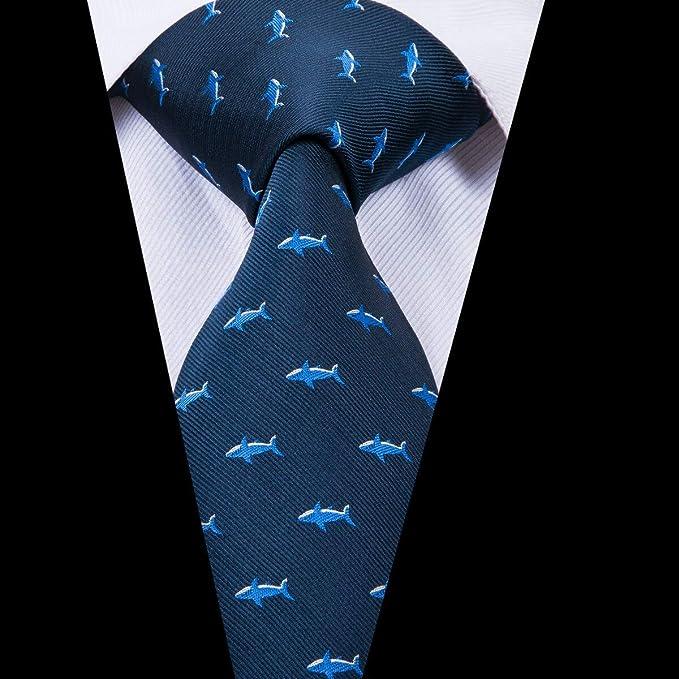 AK Corbata para hombre 100% seda Corbatas hechas a mano para ...