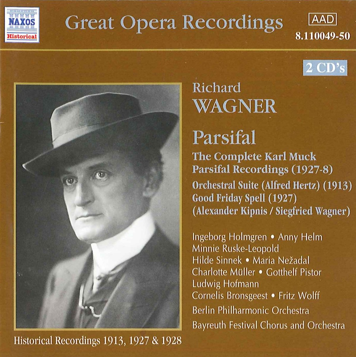 Wagner: The Complete Karl Muck Parsifal Recordings, Orchestral Suite, etc / Muck by Naxos
