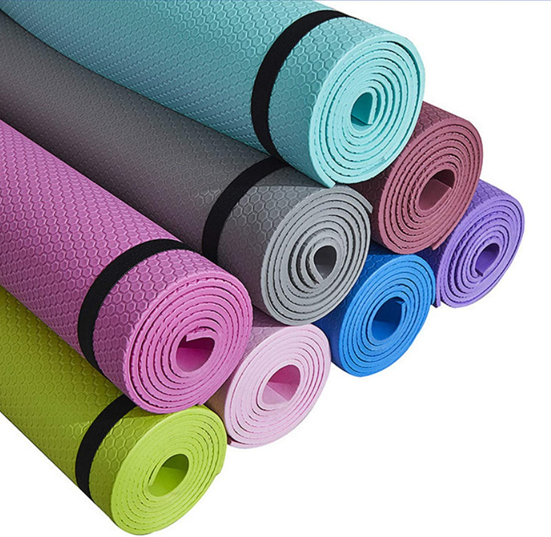 6mm 183x61cm Yoga Mat Thick Exercise Gymnastics Workout Gym Non-Slip Beginner