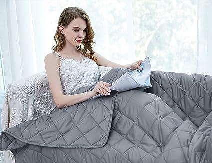 Amazoncom Zzzhen Weighted Blanket 4872 15lbs Premium
