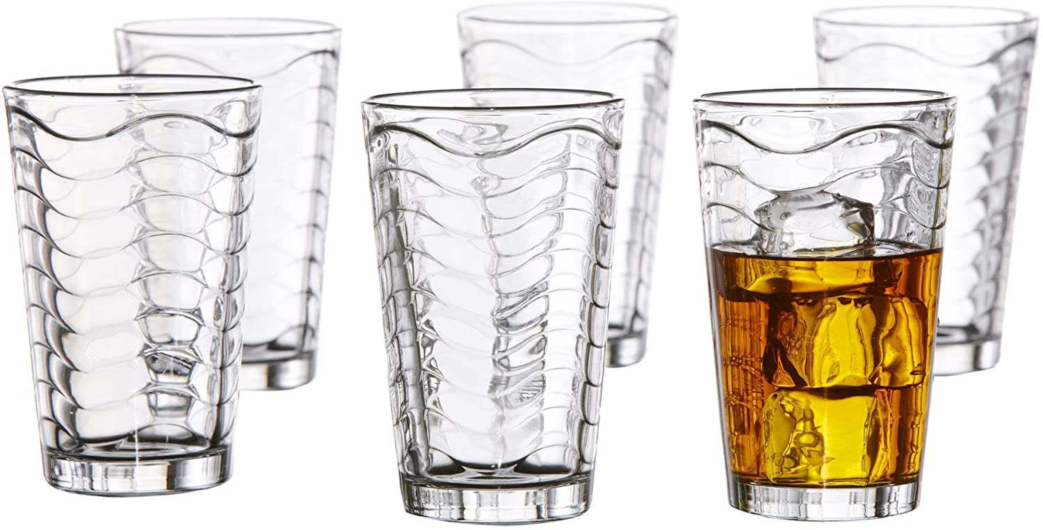 Set of 6 Jay Imports 229224-OF-6 Style Setter Allure Old Fashioned Glasses