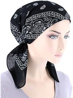 4ed6ec096bb Paisley Bandana Scarf Pre Tied Cotton Chemo Hat Beanie Turban Headwear for  Cancer