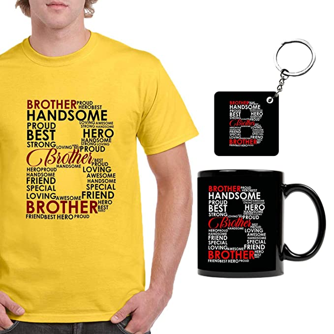FUNKY STORE Birthday Gifts For Brother Combo Word Art Theam Printed Dri Fit