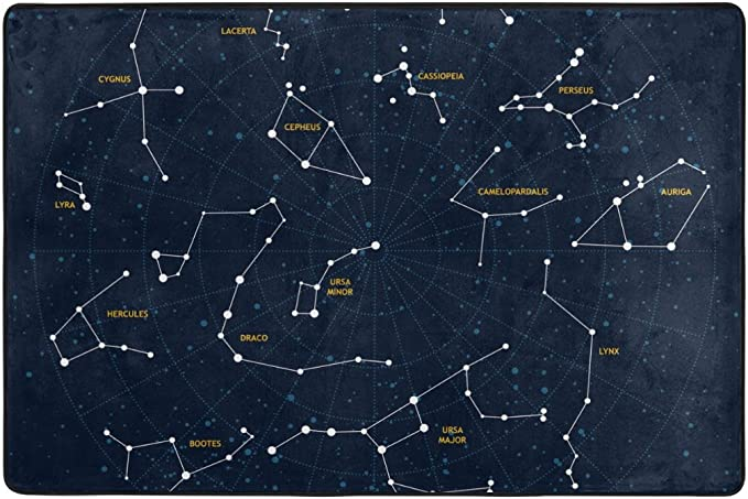Jstel Ingbags Constellations Living Room Dining Area Rugs 3 X 2 Feet Bed Room Rugs Office Rugs Modern Floor Rug Carpets Home Decor Amazon Co Uk Kitchen Home