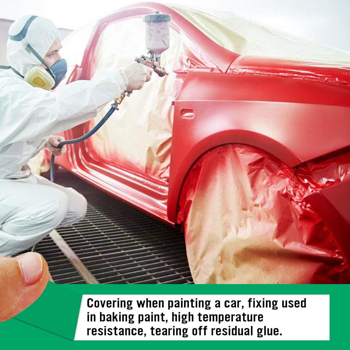 19,5 mm Hxtape Lot de 4 rouleaux de ruban adh/ésif de masquage en polyester haute temp/érature pour peinture anodisation 6,35 mm 25,4 mm 25,4 mm
