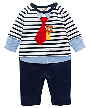 4fac68b332cc ZOEREA Baby Romper Suits Toddler Cotton Stripped Jumpsuit Clothes 3-18  Months