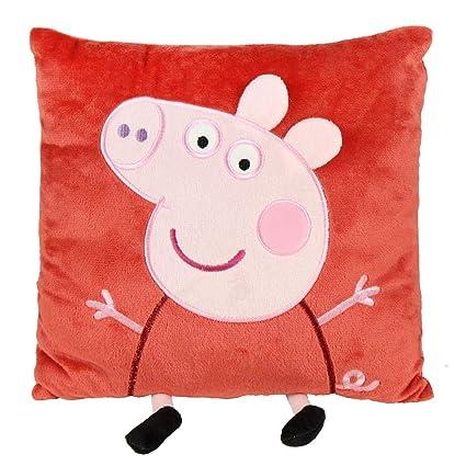 Peppa Pig COJIN con Aplicaciones, Rosa, 30x30 cm: Amazon.es ...