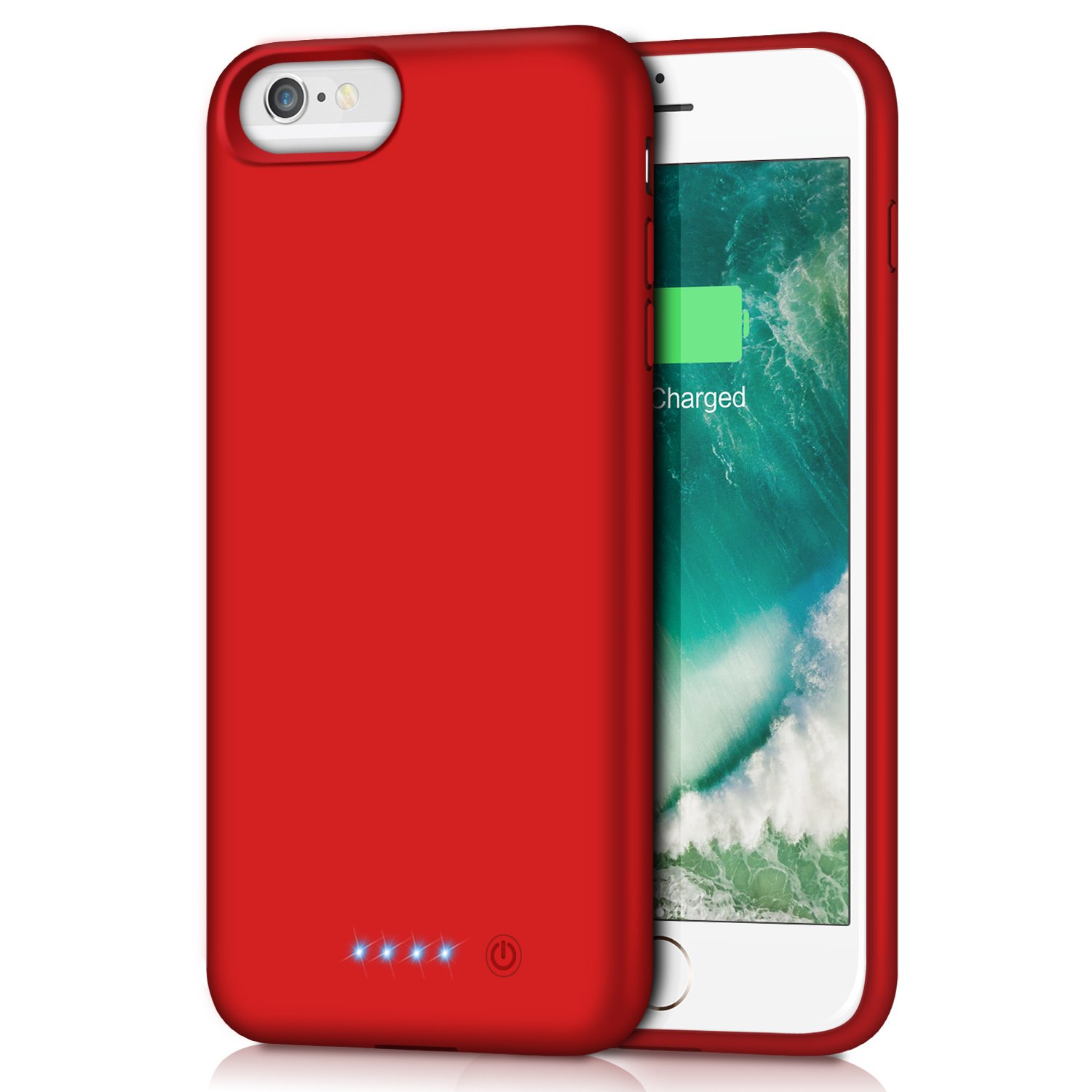iPhone 6s Plus/6 Plus Battery Case,8500mAh Portable Rechargeable Charging Case External Battery Pack for iPhone 6Plus/6s Plus Protective Charger Case Apple Battery Power Bank (5.5 Inch) (Red)