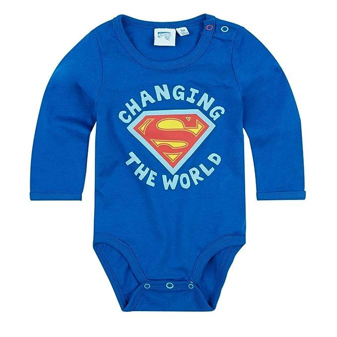 62-92 Gr Langarm Superbaby Body blau