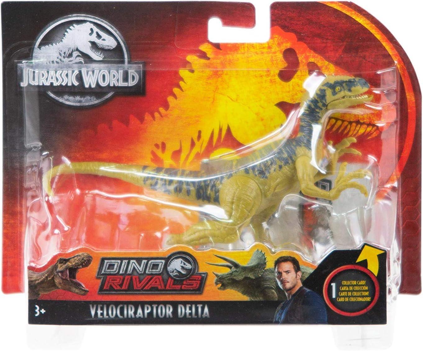JURASSIC WORLD Dino rivali Velociraptor DINOSAURO ECHO Action Figure Nuovo