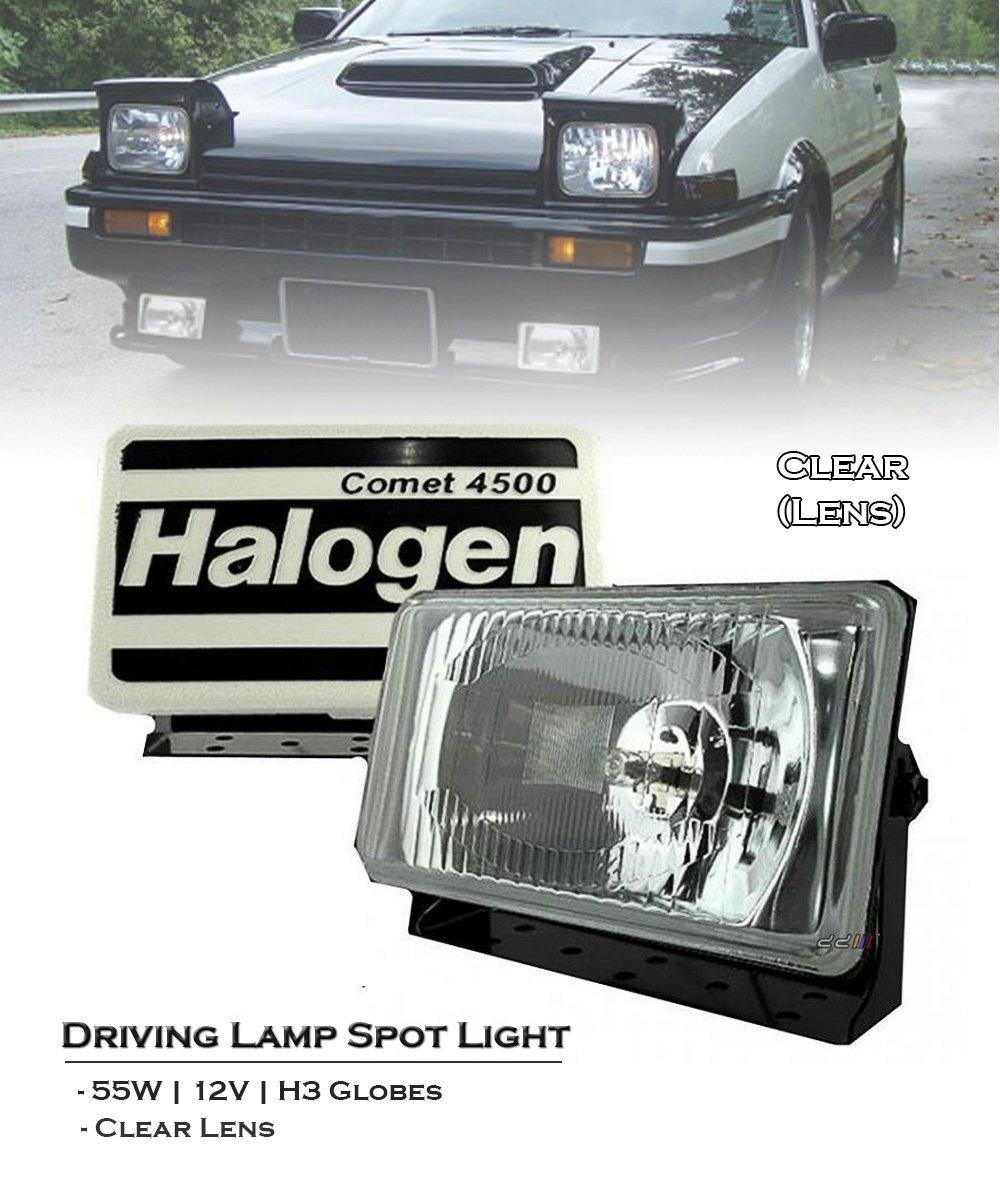 Lights Main Full Beam Extra Rectangle Fog Spot Lamps for VW Corrado