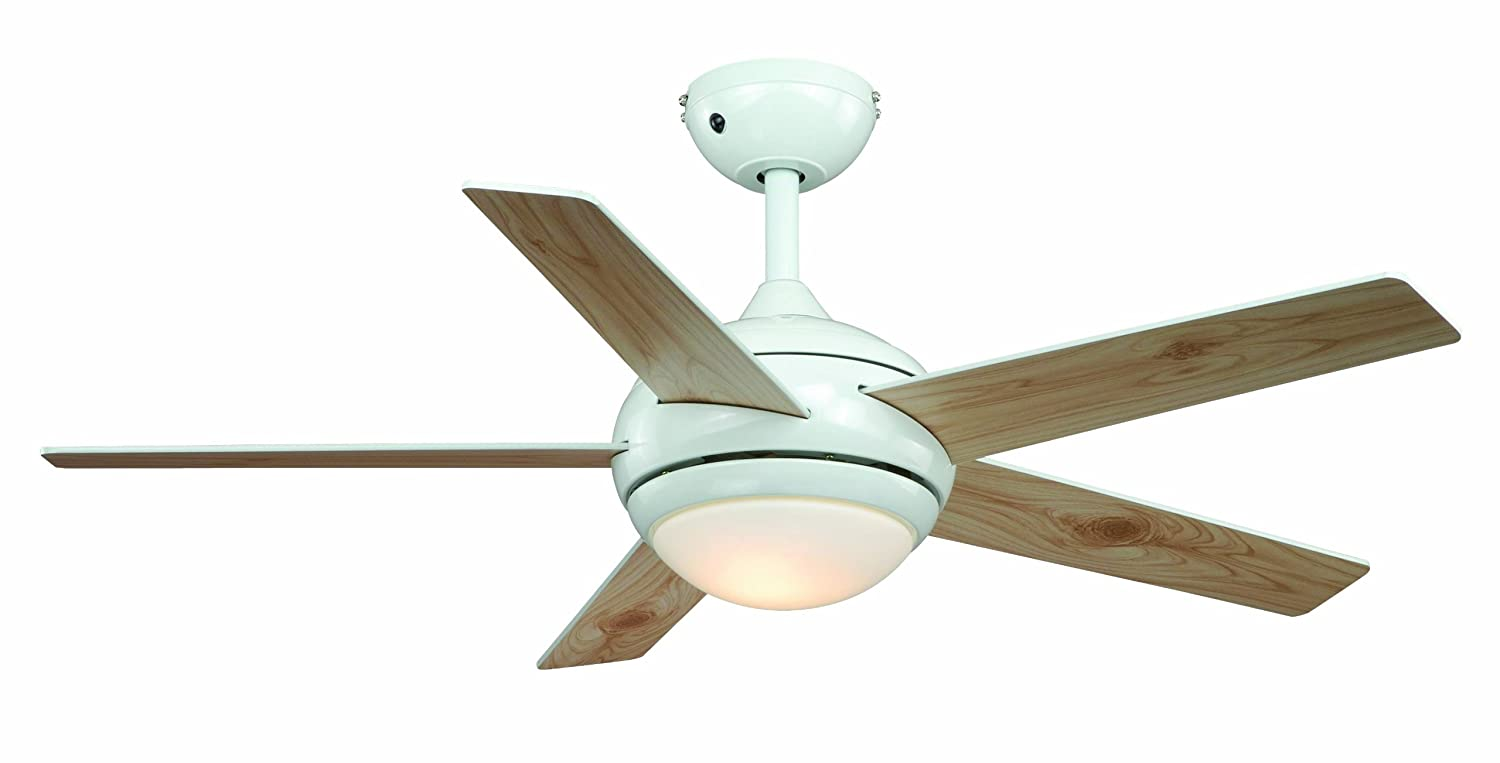 "AireRyder Ceiling Fan Fresco White with Light and Remote Control 44"" 112cm Blades in White and Pine FN52217"