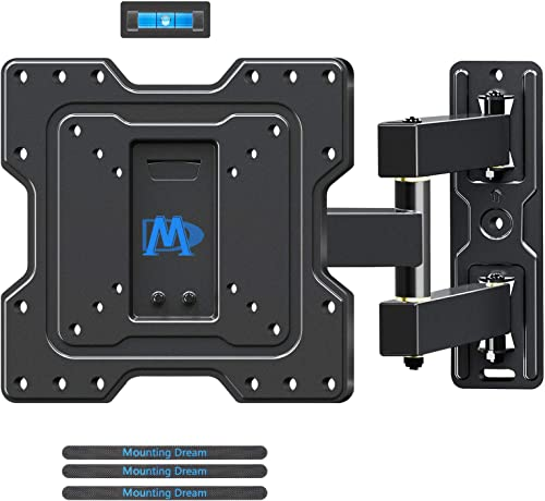 Mounting Dream TV Mount Full Motion TV Wall Mounts Articulating Arms Perfect Center Design, Fits 17-39 , Some Up to 43 LED, LCD TV, Wall Mount TV Bracket Max VESA 200 X 200mm, 60lbs, MD2413-S