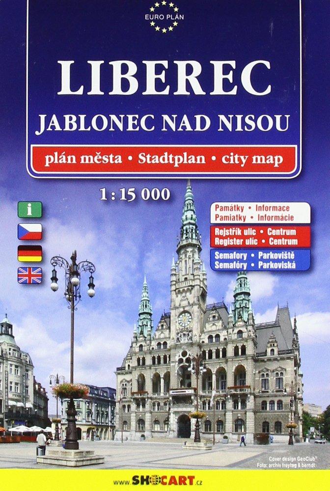 Liberec-Jablonec 1:15.000: Shocart Stadtplan