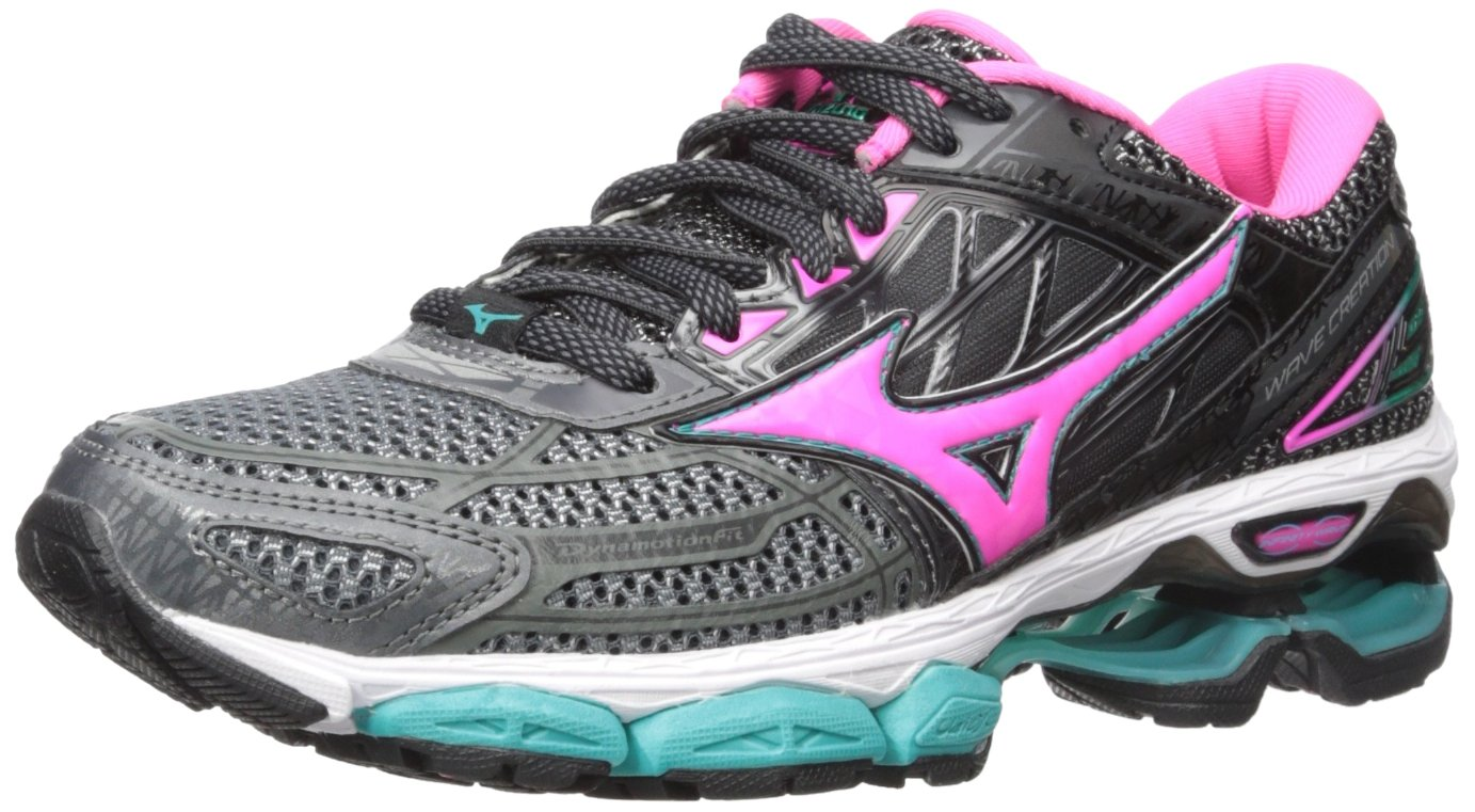 Mizuno Running Women's Wave Creation 19 Shoes B01NCJC5M6 6 B(M) US|Castlerock/Pink Glo/Black
