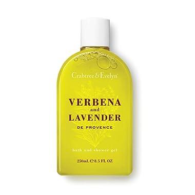 Crabtree & Evelyn Bath and Shower Gel, Verbena and Lavender, 8.5 Fl Oz