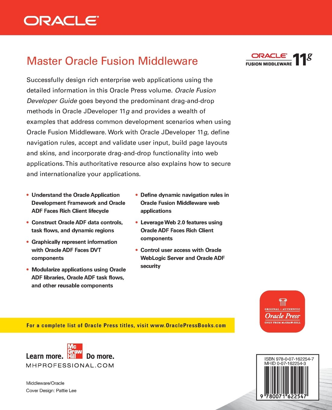 Oracle fusion developer guide building rich internet applications oracle fusion developer guide building rich internet applications with oracle adf business components and oracle adf faces oracle press amazon frank baditri Gallery