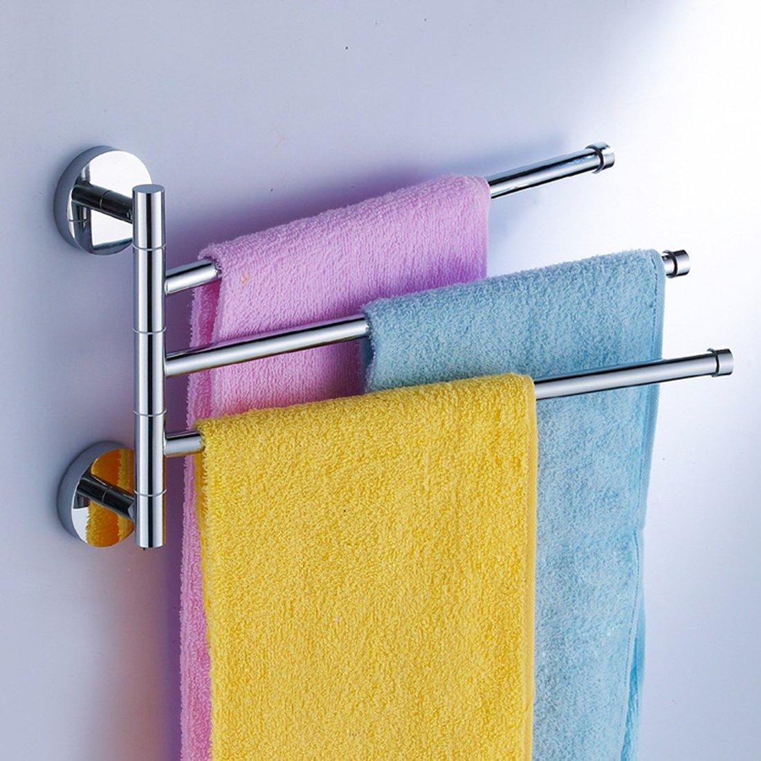 *200 W mm Hipsteen Badezimmer Wand-360 Grad Rotierende 3-Armig Handtuch Halter Rack Hanger 300 L