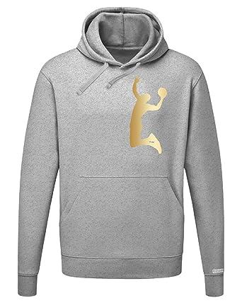 Basketball Dunk - GOLD - Herren Hoodie Kapuzenpullover in Graumeliert by  Jayess Gr. S