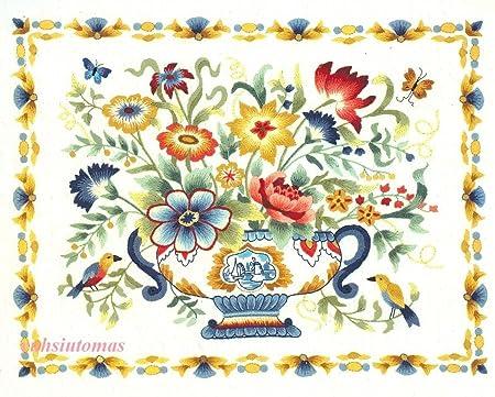 Jca Elsa Williams Crewel Embroidery Kit Roman Holiday Amazon