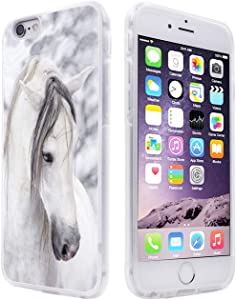 6S Case Horse,Gifun Anti-Slide Soft TPU Protective Case Cover Compatible with iPhone 6S/6 4.7
