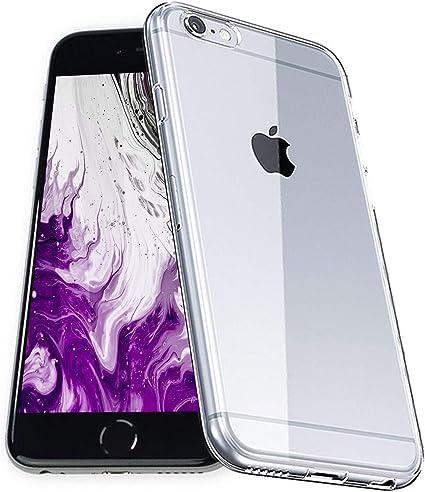 COVERbasics Cover Compatibile con iPhone 6s / 6 (SOFTCASE) Custodia Trasparente in Silicone TPU con Bordo Anteriore Salvaschermo