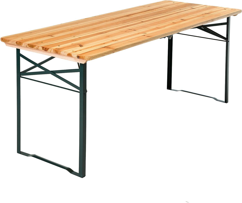 TecTake mueble de jardín de fiesta de mesa y bancos madera Terasse Brasserie plegable Bar – varios modèles-: Amazon.es: Hogar