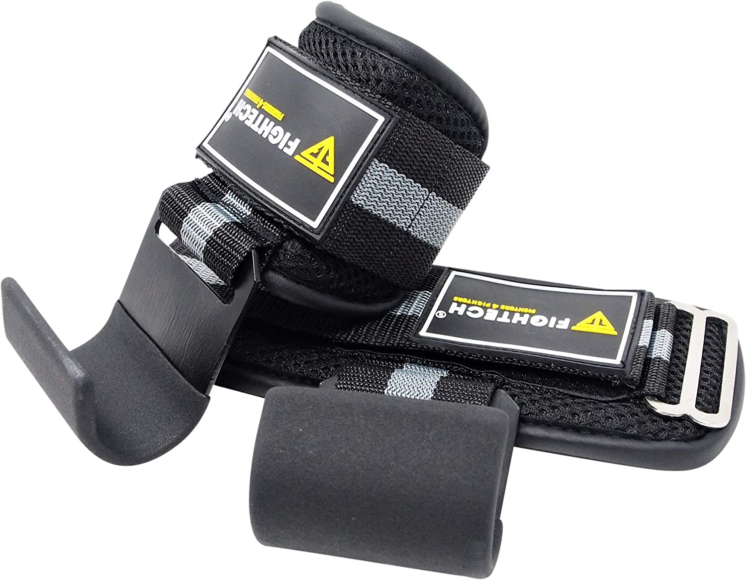 Fire Team Fit Lifting Hook for Weightlifting /& Body Building for Men /& Women Deadlifts Powerlifting Padded Wrist Wraps /& Hook Grips for Pullups