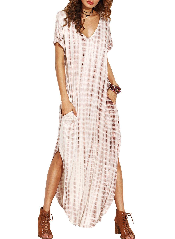 Women's Colorful Cotton Embroidered Turkish Kaftans Beachwear Bikini Cover up Dress (H-Coffee)