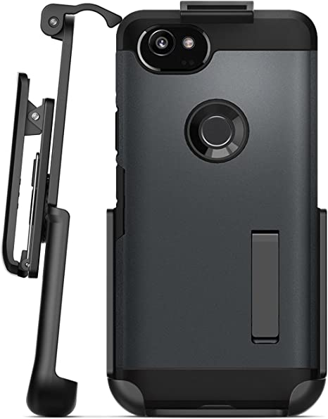 Black Google Pixel 2 XL Belt Case Encased Protective Grip Case with Holster Clip for Pixel 2 XL SlimShield Edition