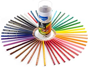 Marco Colored Pencils 48 Set Professional Watercolor Pencils with Blending Pen for Artists Beginners Students Drawing, Watercolor Painting, Coloring Books