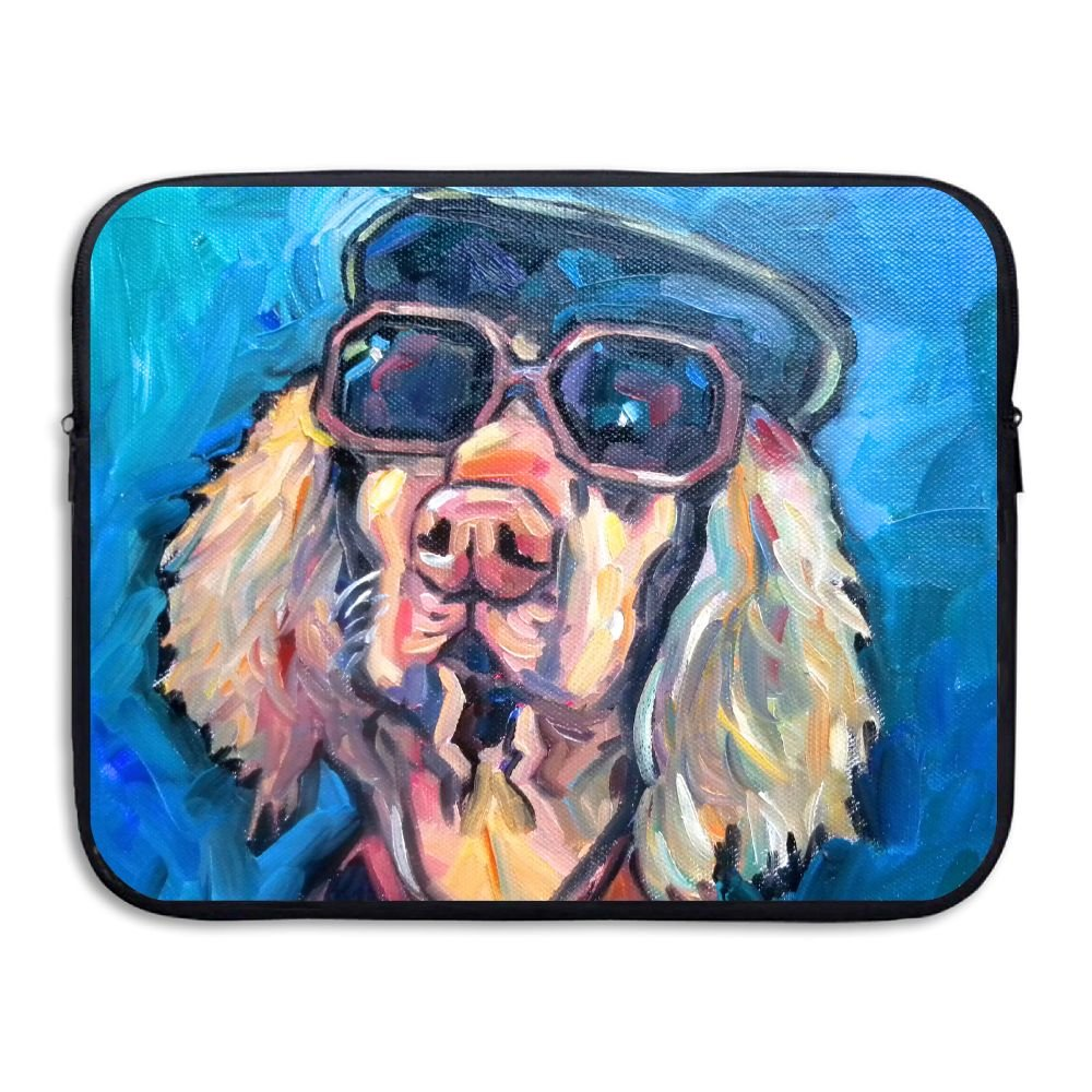 Mr.Roadman Laptop Sleeve Bag Cool Dog With Glasses Painting Artwork Briefcase Sleeve Bags Cover Computer Liner Case Waterproof Computer Portable Bags