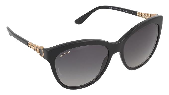 Bvlgari Unisex-Erwachsene Sonnenbrille 8158, Schwarz (Dark Havana), 57
