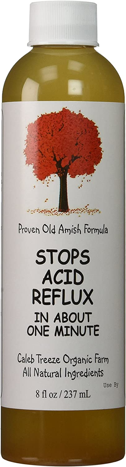 Caleb Treeze Organic Farm Stops Acid Reflux 8 oz (Pack of 3) (3 Items)