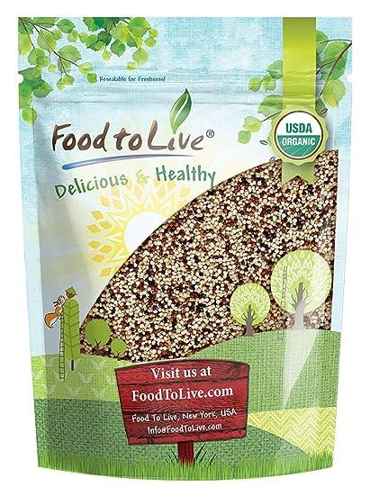 Quinoa tricolor orgánica, 3 Libras - sin OGM, Kosher, cruda ...