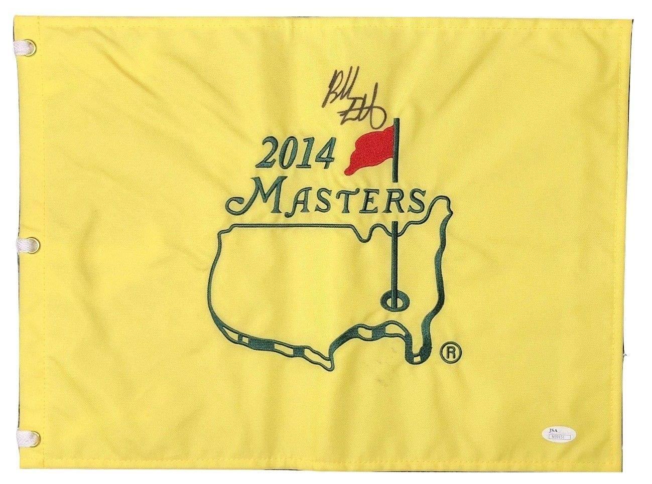 Bubba Watson Signed Autographed 2014 Masters Flag JSA