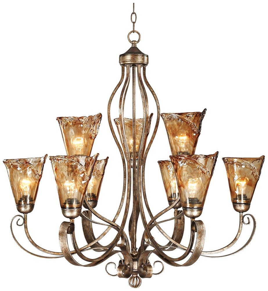 Amber scroll 35 12 wide chandelier amazon arubaitofo Choice Image
