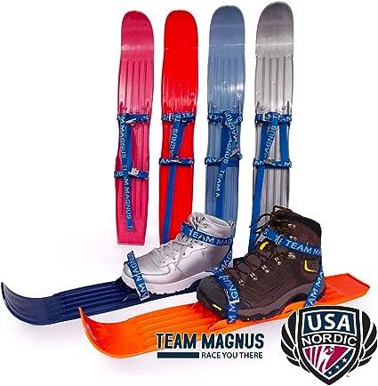 TEAM MAGNUS Skis pour Enfants utilisés par la Fédération USA de Ski Nordique et de Saut pour l'entraînement et Les habiletés