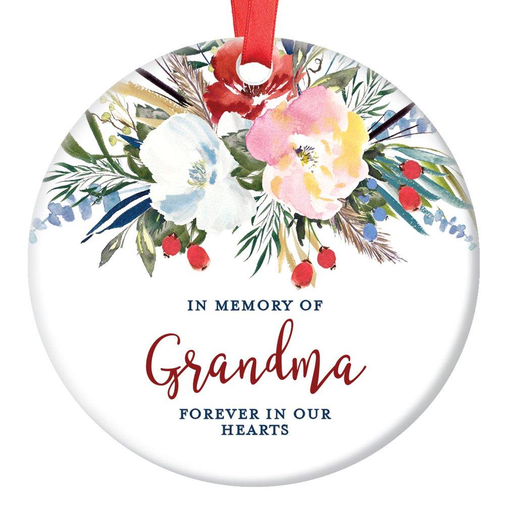 Amazon.com: Grandma Ceramic Memorial Christmas Ornament 2018 ...