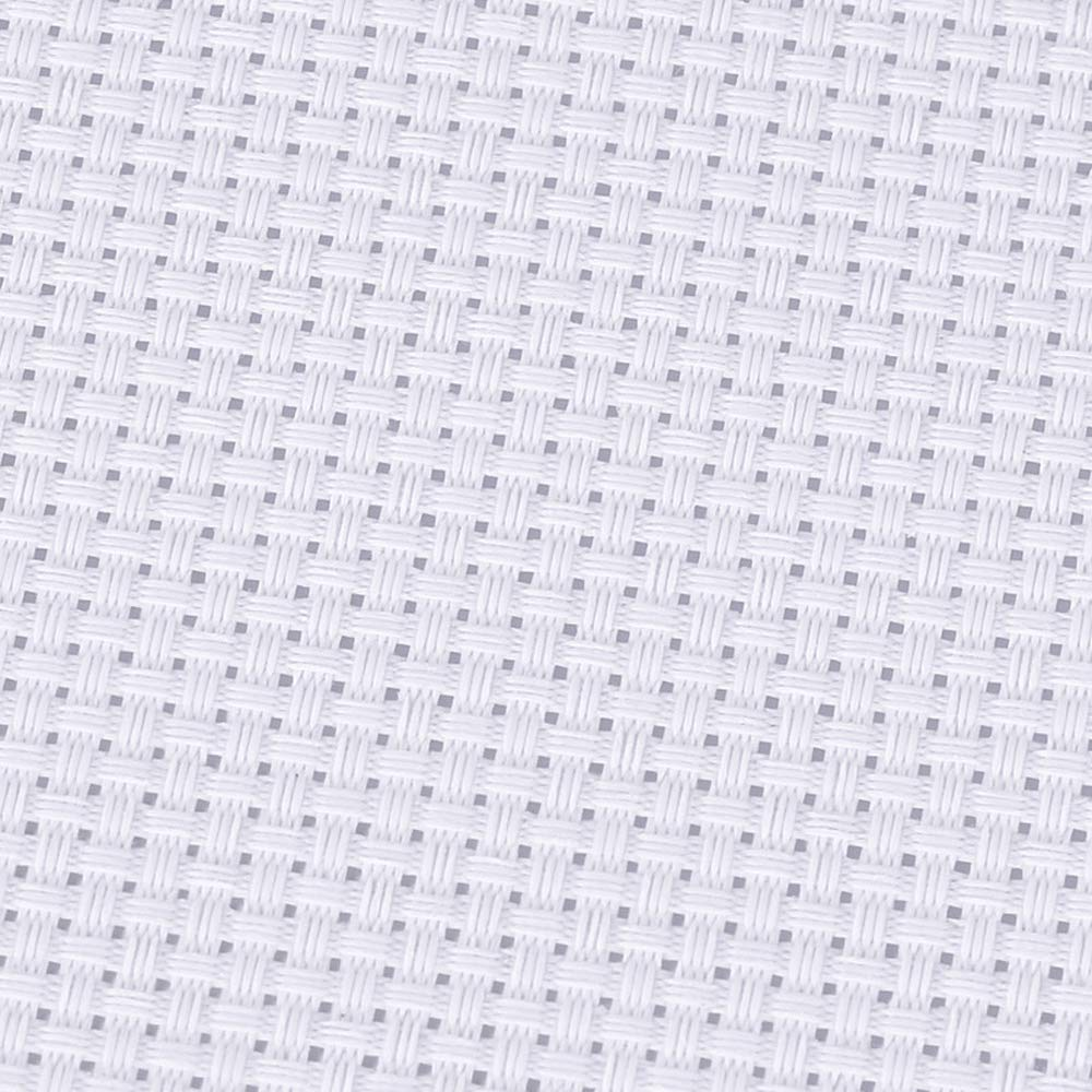 5 Pieces Cross Stitch Cloth Classic Reserve Aida Cloth 2 Black, 3 White 14 Count 18 by 12-Inch,