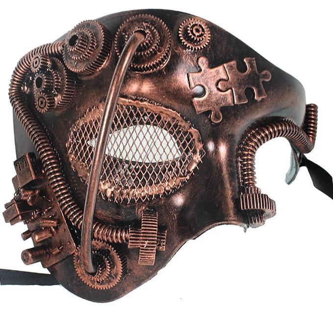 Redskytrader para hombre Steampunk Robot Phantom máscara veneciana - Marrón -