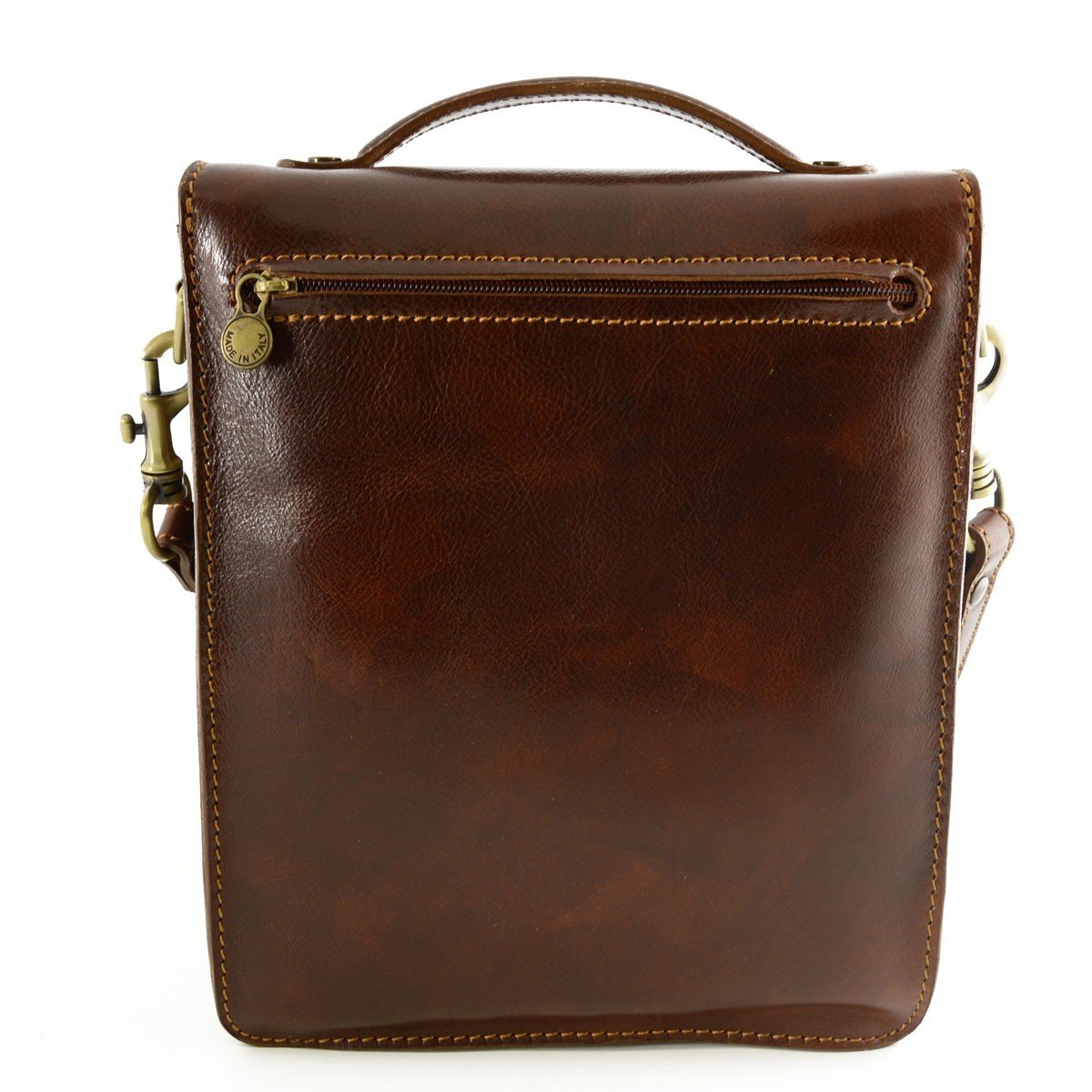 Man Genuine Leather Bag Color Brown