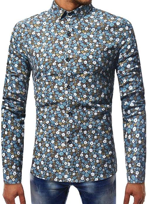Camiseta de Manga Larga con Cuello en V para Hombre, Casual, de otoño, con Cuello en V Top de la Blusa con Top de Patchwork, de Internet.