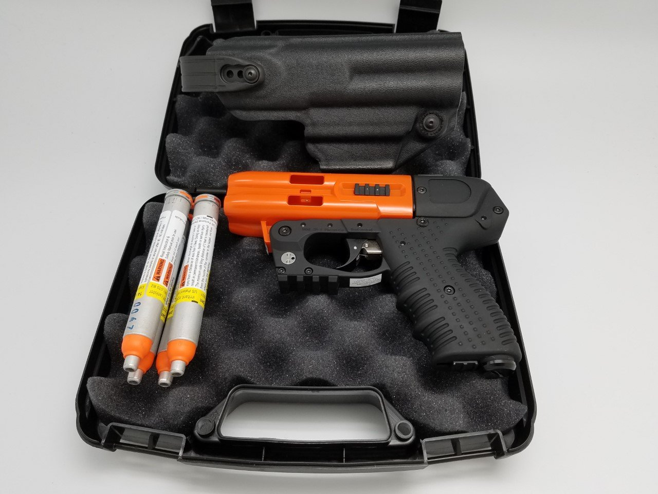 Piexon AG 4 Shot LED Laser Pepper Spray Gun Orange Bundle with Level 2 Holster by Piexon AG (Image #1)