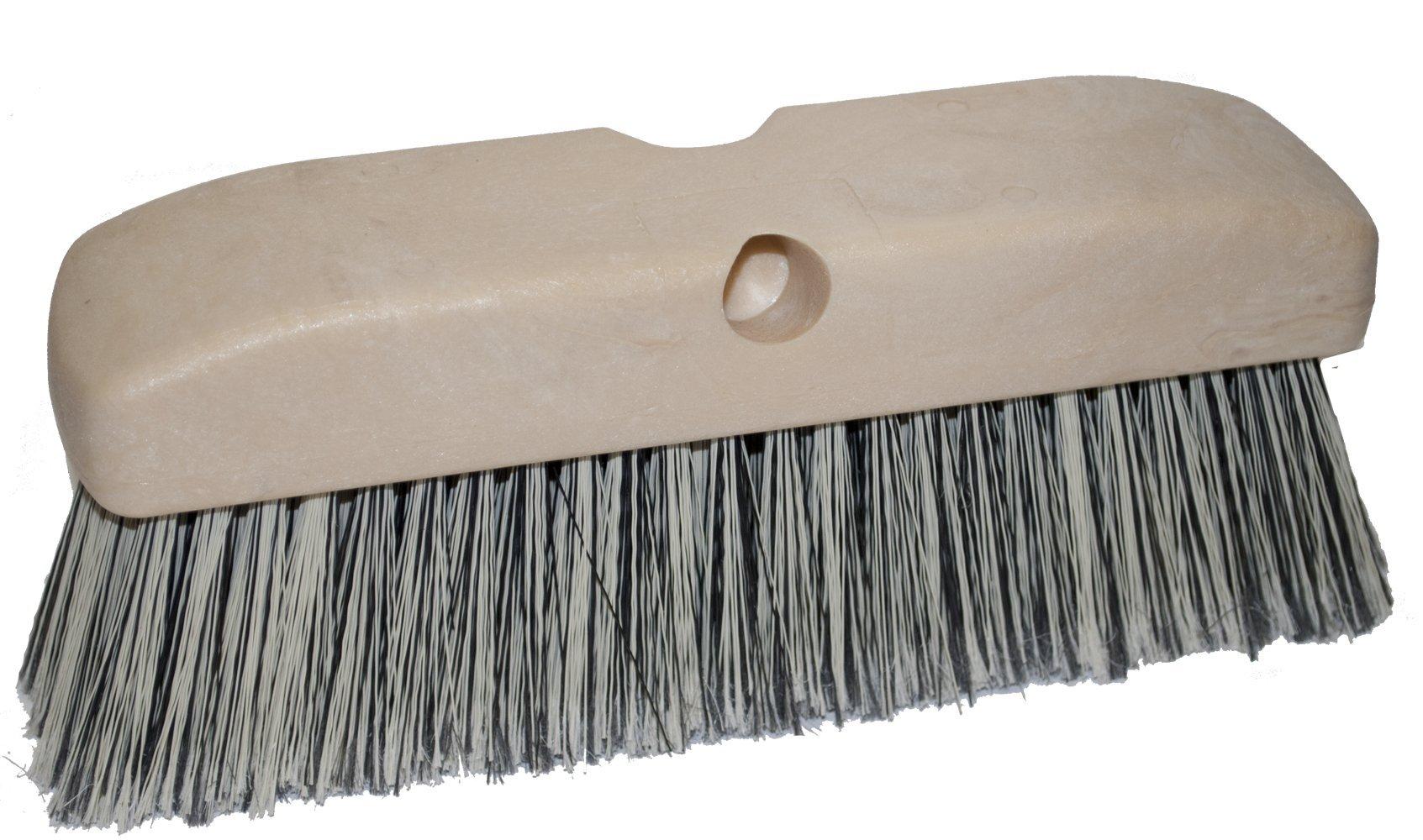Magnolia Brush 3040 Vehicle Wash Brush, Polystyrene Bristles, 2-1/2'' Trim, 10'' Length, Black/White (Case of 12)